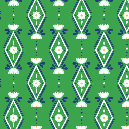 Diamonds Are Forever   Green from Lotus Pond by Rae Hoekstra for Cloud9 Fabrics