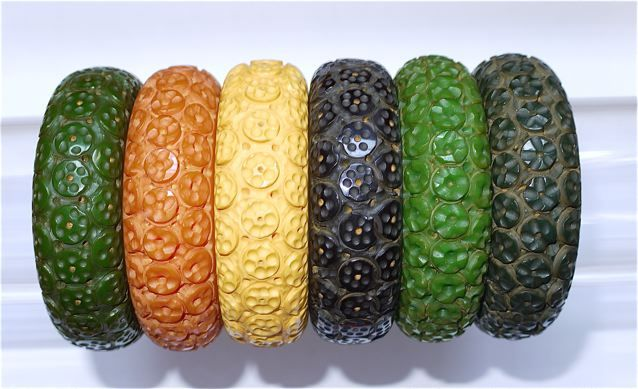 Carved bangles - the Bakelite museum