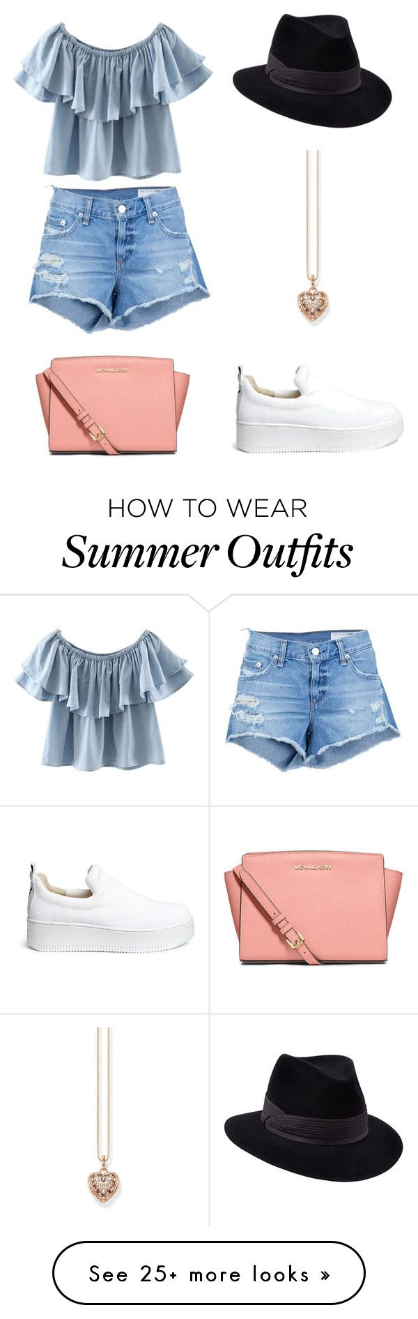 """Summer outfit"" by jasmine-han-qinying on Polyvore featuring rag & bone/JEAN, Chicnova Fashion, Penmayne of London, Windsor Smith, MICHAEL Michael Kors and Thomas Sabo"