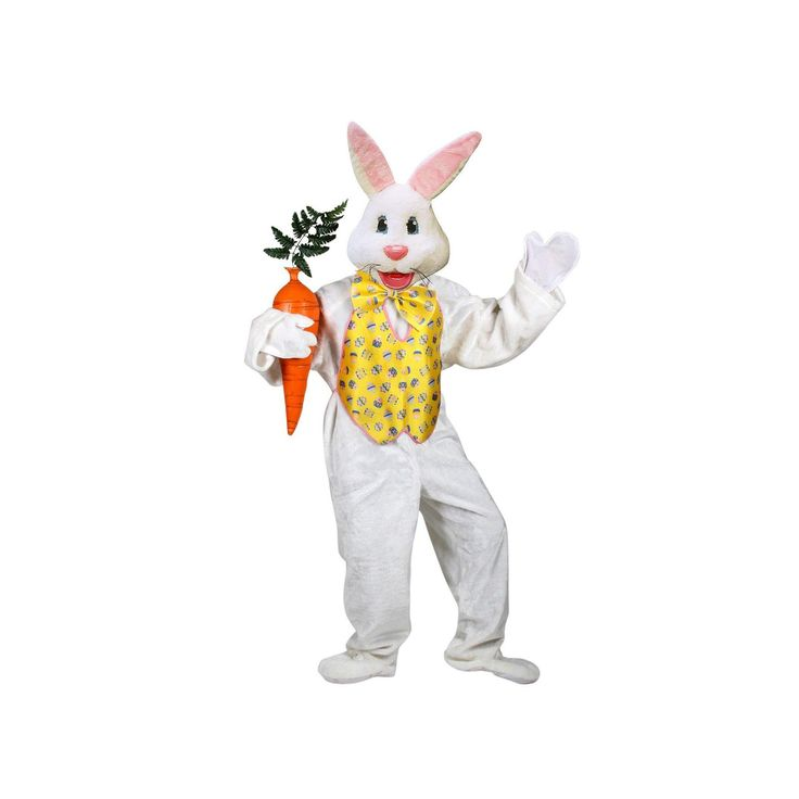 Adult Deluxe Easter Bunny Costume, Adult Unisex, Multicolor