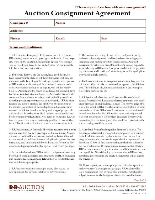 How To Create A Consignment Agreement Consignment Agreement Form