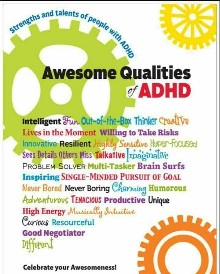 Awesome qualities of ADHD