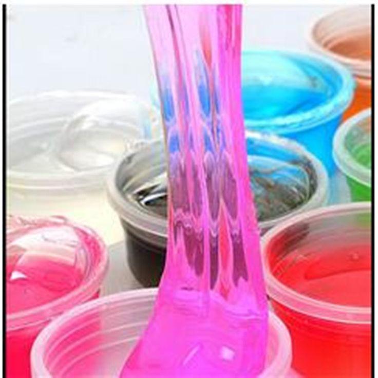 1 peças/lotes 12 cores pode ser soprando bolhas de cristal lama de argila não-tóxico pode desenhar slime Brinquedos Engraçados