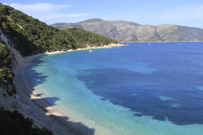 The fact that it is not accessible by road makes Ithaca's Gidaki Bay all the more appealing