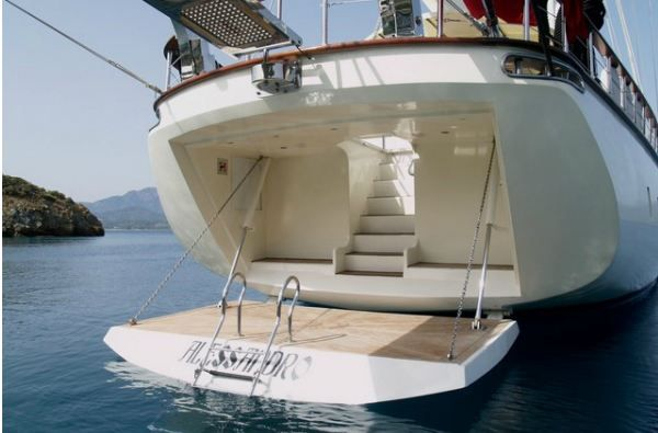Alessandro Sailboat in Greece - The stern