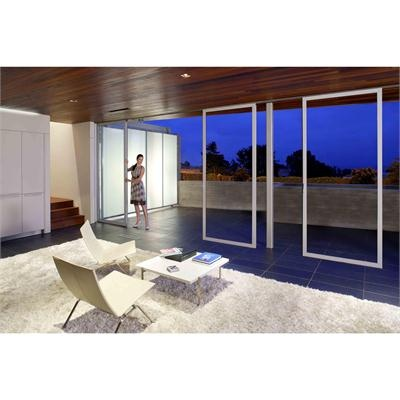 The elegant precision engineered NanaWall glass door system meets the most challenging architectural specifications.