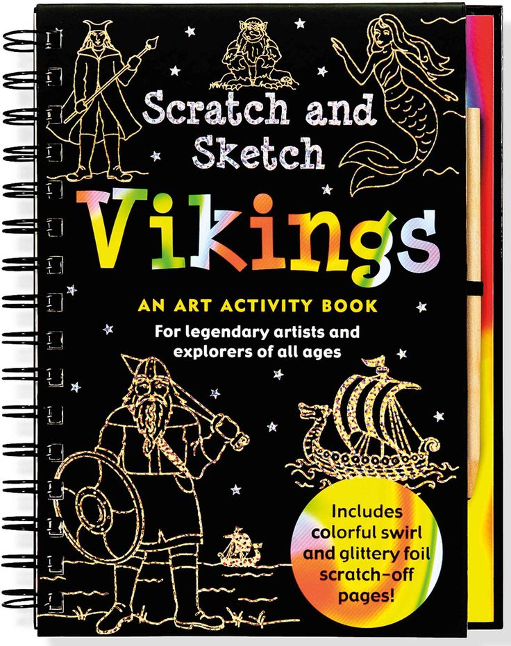 Scratch and Sketch your way through the Vikings' amazing explorations and rich mythology! Find out who the Vikings were and where they came from. Learn about Erik the Red, Leif Erikson, the Vikings' t