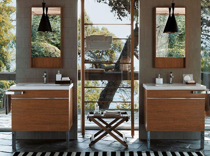 Salle de bain exotique / Exotic bathroom : http://www.maison-deco.com/salle-de-bains/deco-salle-de-bains/Je-cree-ma-salle-de-bains-exotique