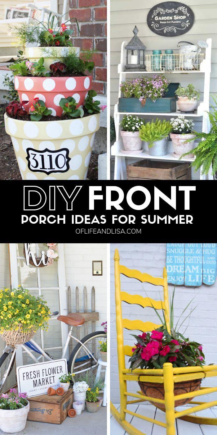 7 Cheap And Easy Diy Porch Decor Ideas For Summer Of Life And Lisa Diy Porch Decor Porch Decorating Diy Porch