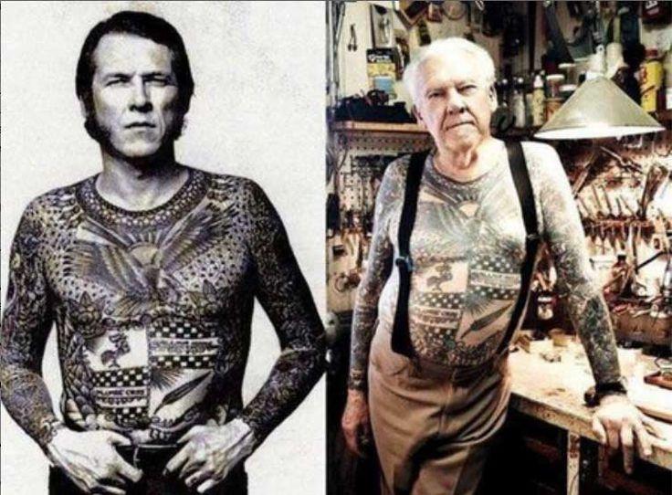 ¿Qué Pasa Con Los Tatuajes Cuando Envejecemos? 15 Imágenes Que Responden Esta Pregunta