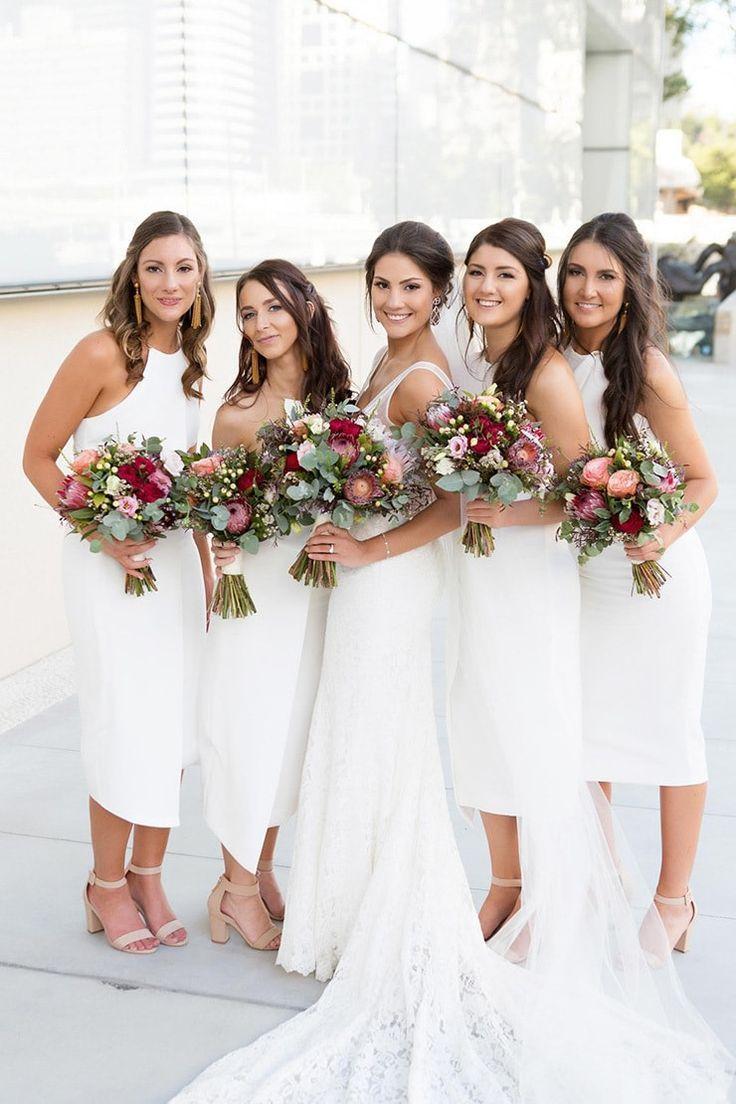 Megan James Modern Rustic Wedding Wedding Entourage Modern
