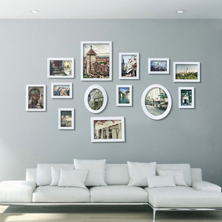details about uk stock 13 pcs collage natural white wooden multi picture photo frame wall set