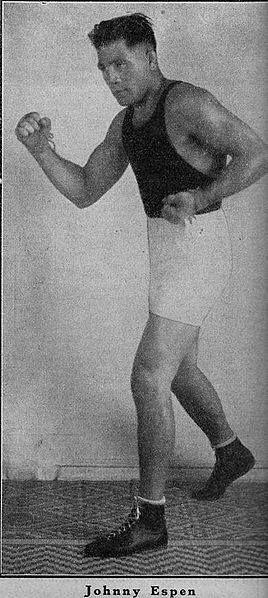Name: Johnny Espen Alias: Jack Espin Birth Name: Johannes Bergesen Espetvedt Born: 1894-02-06 Birthplace: Meland, Norway Died: 1966-09-18 (Age:72) Hometown: Bergen, Norway Stance: Orthodox
