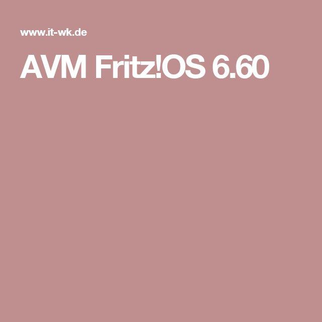 AVM Fritz!OS 6.60
