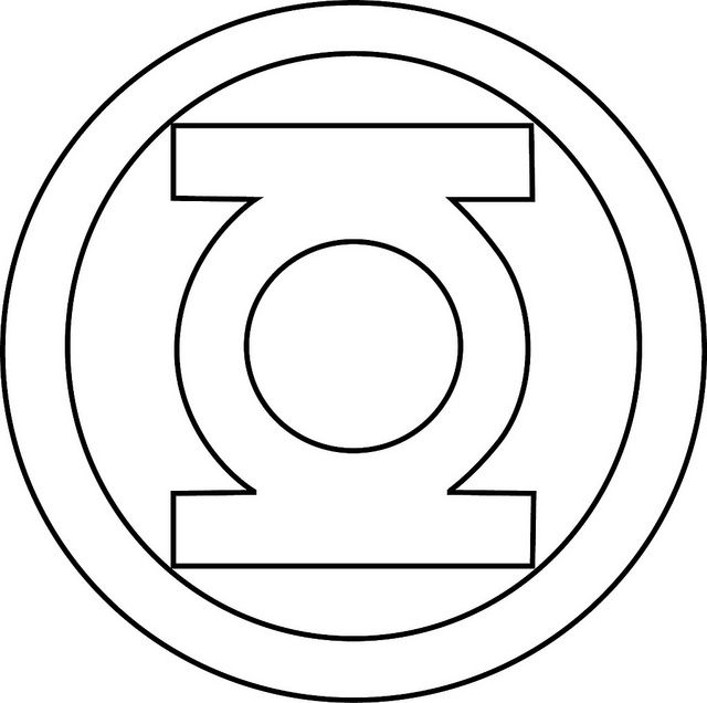 printable superhero logo coloring pages | Go Back > Gallery For > Green Lantern Logo Template ...