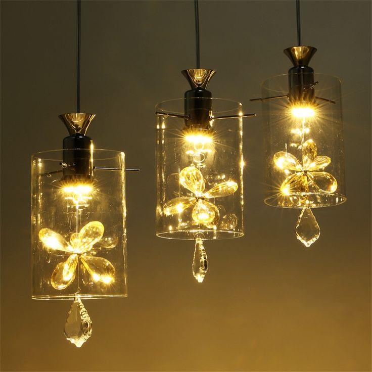 51.97$  Buy here - http://alij4a.shopchina.info/go.php?t=32792765518 - Nordic Light Modern Minimalist Art Dining Room LED Pendant Lamp Fashion Crystal Glass Pendant lights Bar Room Aisle Hanging Lamp  #magazine