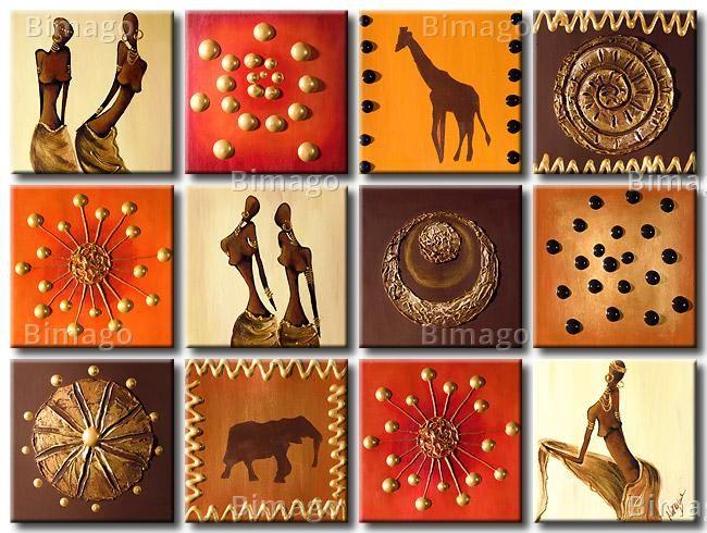 Montaje cuadros africanos | cuadros | Pinterest