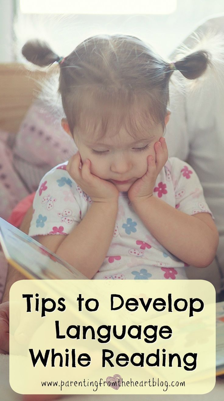 When your child is speaking or isn't speaking much it can be quite difficult. Even if your toddler is speaking well, having strategies to continue to increase language development are worthwhile. Fortunately, reading (which is so basic) is arguably the best way to promote language develop. Here are 6 valuable tips to develop language while reading. Check them out! Early literacy, emergent literacy, language development, speech development.