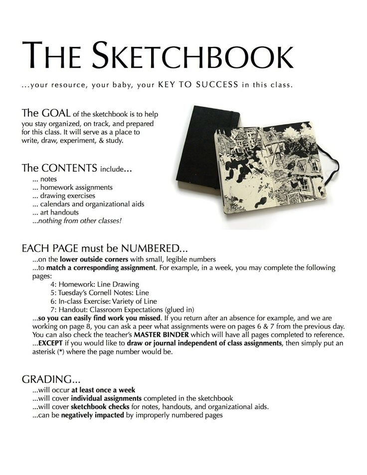 Project ART-A-DAY: Lesson: Elements and Identity Sketchbook Cover