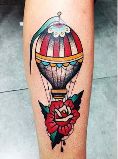 Air Balloon Tattoo Air Balloon Tattoo Ideas. A cool looking hot air balloon tattoo design on a man's arm! But would look great on any part of the body. A good looking tattoo for both men and women alike of all tastes. Air Balloon Tattoo Ideas and tattoo designs. Search for similar tattoo ideas using …