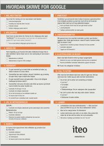 Sjekkliste for å gode webtekster