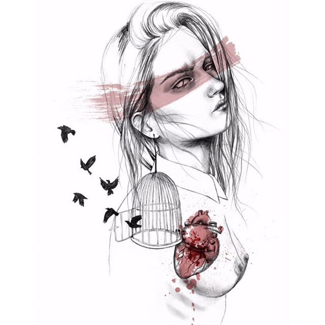 """""""Te quiero así inocente, toda ajena, palpitante en lo que está fuera de ti, tus ojos proclamando las vívidas verdades de colores de la noche."""" + #poema de #pedrosalinas ❤️ + #ilustracion #dibujo #drasan #sandradelacruz #poesiavisual #poesiavisual"""