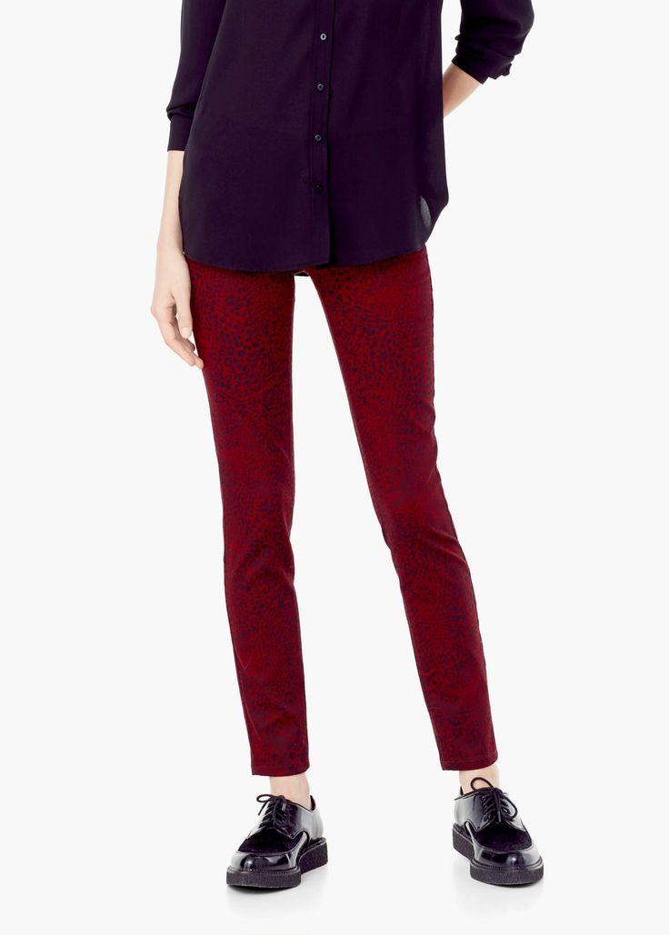 Pantaloni cu imprimeu - Pantaloni pentru Femei | MANGO