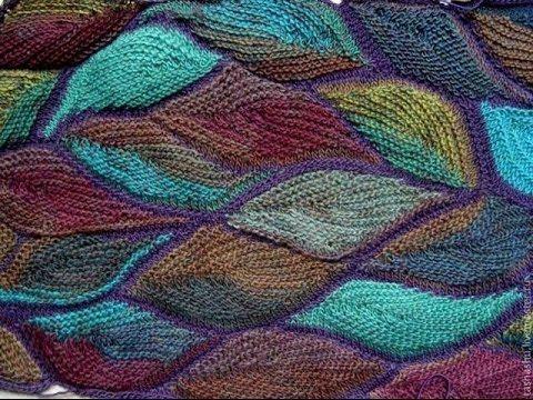 Вязаный пэчворк. Мастер-класс. Knitted patchwork. Tutorial. - YouTube