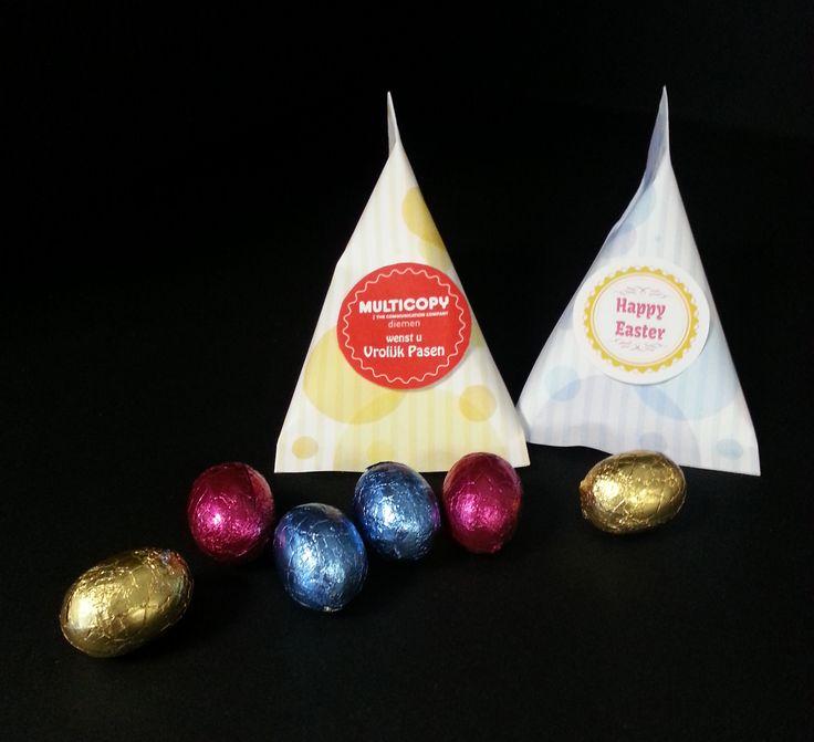 """""""Pasen""""-snoepzakjes met verschillende vullingen mogelijk."""