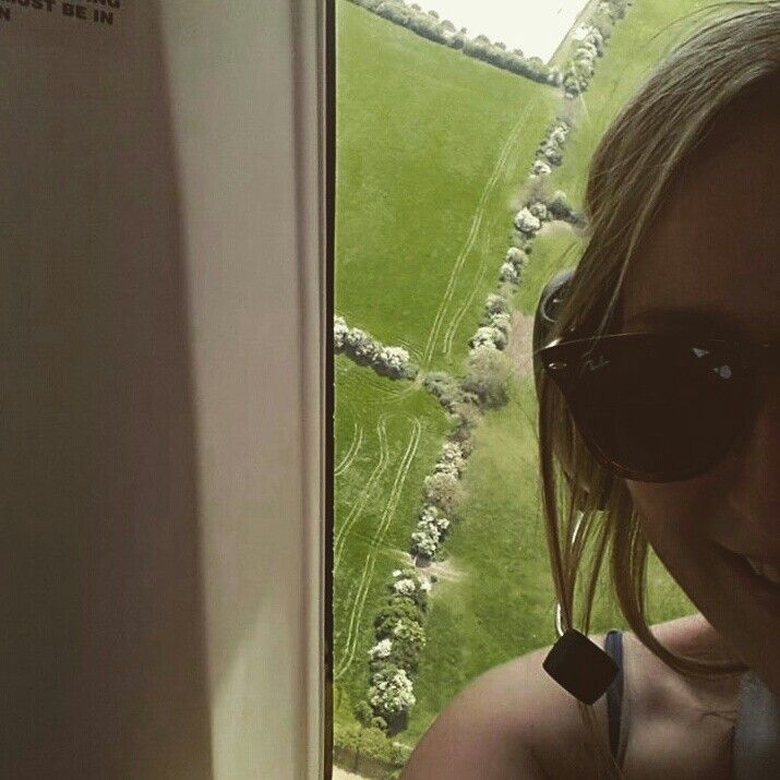Helicopter selfie near Lucan,  Dublin