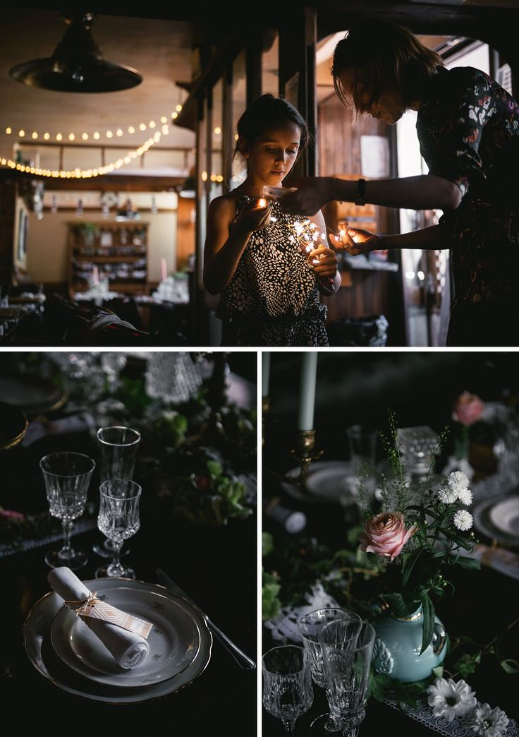 Rustic decoration for a mountain wedding in a French Chalet - Zephyr & Luna photography