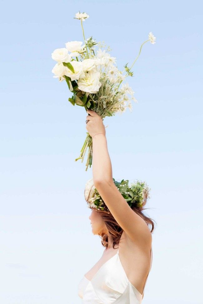 Fun and free. Vogue Brides editorial with Bambi Northwood-Blyth and Dan Single.  Image: Nicole Cooper.
