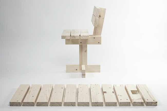 Hamaika, el último proyecto del diseñador industrial vasco Unai Rollán, es una silla que intenta enseñar a los niños los principios básicos de la construcción de mobiliario. Como en el legendario p…