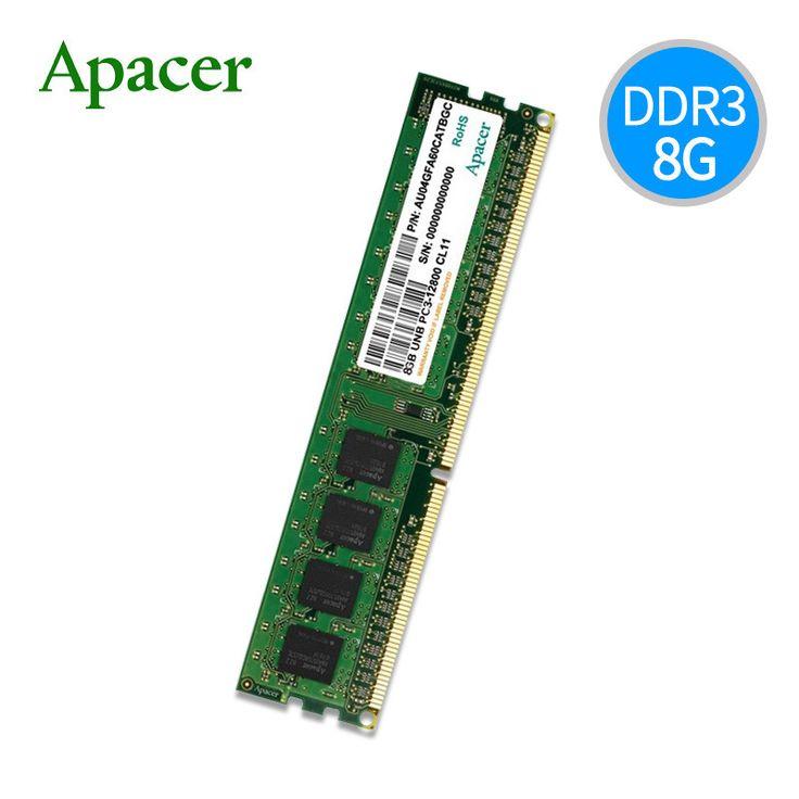 Apacer DDR3-1600 4GB 8GB 1600MHZ 240Pin Ram de memoria para PC de escritorio