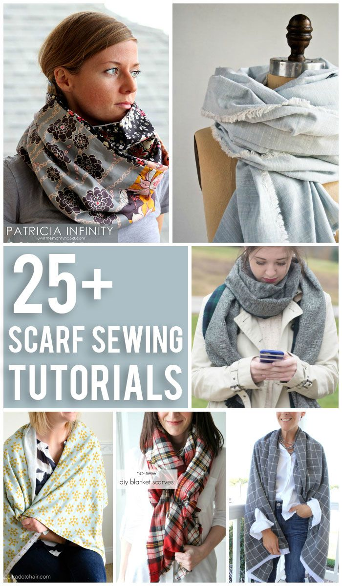 Today we're talking scarves, Scarf Sewing Tutorials to be exact. From an infinity scarf, to blanket scarf hopefully there is something that you'll get the itch to stitch on this list. If you like this