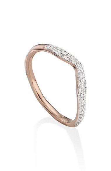 Free shipping and returns on Monica Vinader 'Riva' Diamond Stacking Ring at Nordstrom.com. Inspired by the waves and soft edges of architectural structures and the glamour of the Italian Riviera, this artfully irregular, artisan-crafted ring is illuminated with 17 sparkling pavé diamonds.