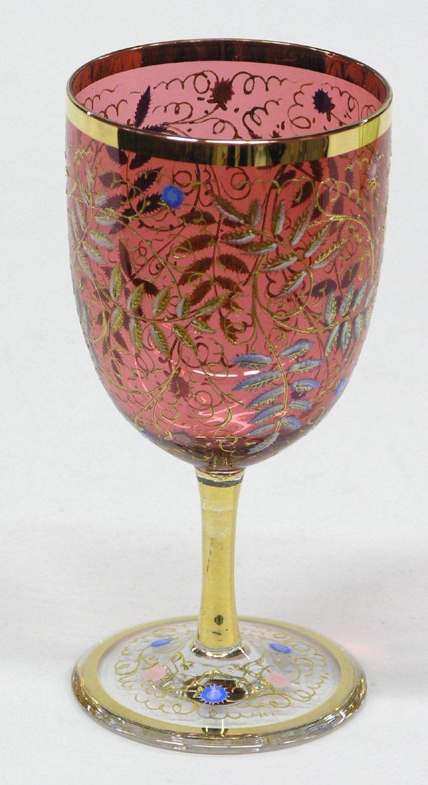 Moser stemmed water goblet
