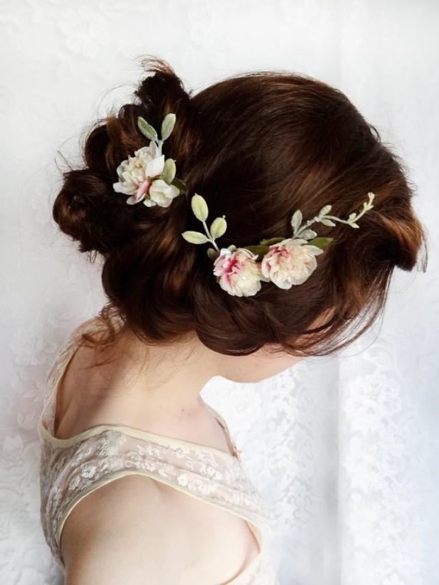 So elegant and pretty flower wreath headpiece.garden party wedding bridal hair
