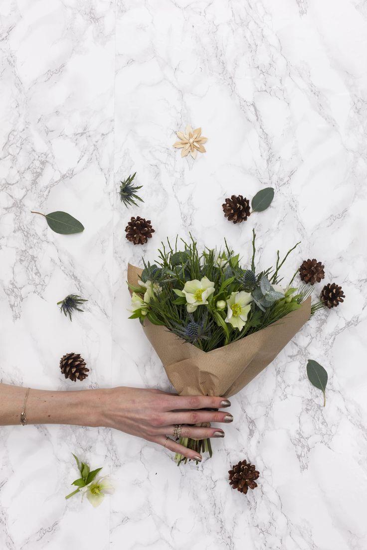 December a la POSY by Interflora. Seasonal Flowers. Nordic Chic.