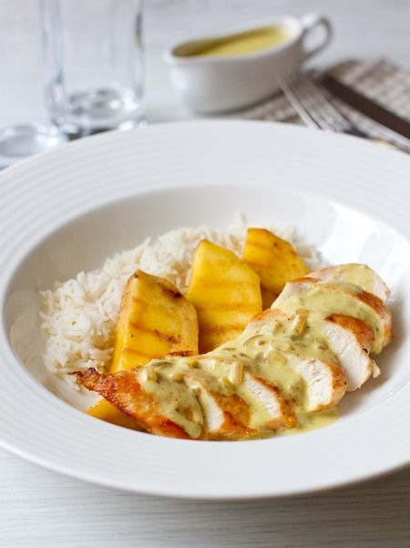 Куриное филе с манго и кокосовым соусом, пошаговый рецепт (CHICKEN BREAST with mango and coconut sauce)