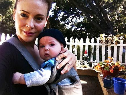 """""""I think the thing I like best about #breastfeeding is the closeness I feel to Milo and knowing that he's getting the best of me."""" - Alyssa Milano"""