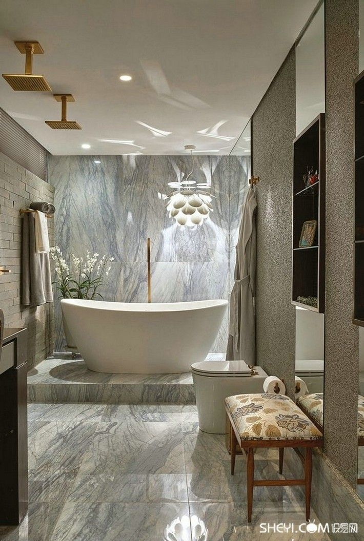 173 best Beautiful Bathrooms images on Pinterest | Bathroom, Half ...