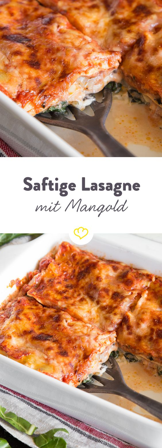 Was würden wir nur ohne Mangold in der Lasagne machen? Das würzige Gemüse schichtet sich hier zwischen Ricotta, Parmesan und Mozzarella zum Ofenstar.
