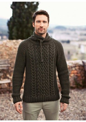 Cat. 15/16 - #162 High-neck cable sweater   Buy, yarn, buy yarn online, online, wool, knitting, crochet   Buy Online