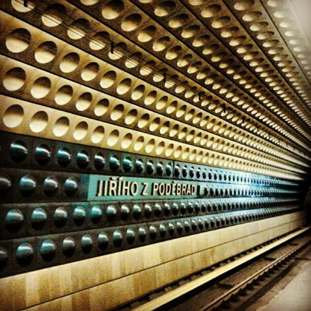 Jiriho z Podebrad metro station, Prague 2012