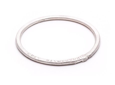 Lyric bangle Vikki Kassioras