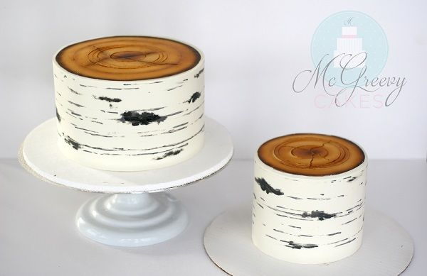 birch tree cake tutorial by McGreevy Cakes