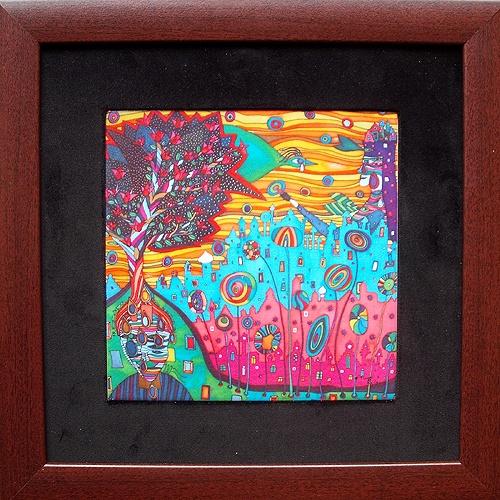 kerámiára égetett festményem