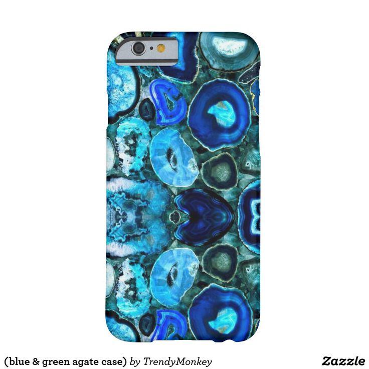 (blue & green agate case)