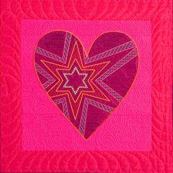 Star Heart Stars by Sarah Vedeler visit.sarahvedelerdesigns.com #Embroidered Applique #SarahVedelerDesigns